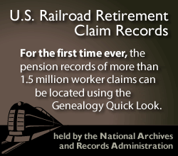 U.S. Railroad Retirement Claim Records, held by the National Archives and Records Administration
